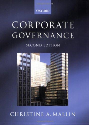Corporate Governance By Christine Mallin