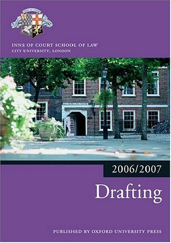 Drafting 2006-07 (Bar Manuals) By Inns of Court School of Law