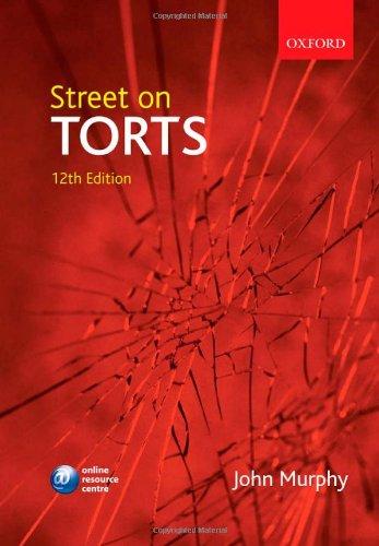 Street on Torts By John Murphy