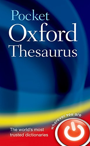 Pocket Oxford Thesaurus By Oxford Languages