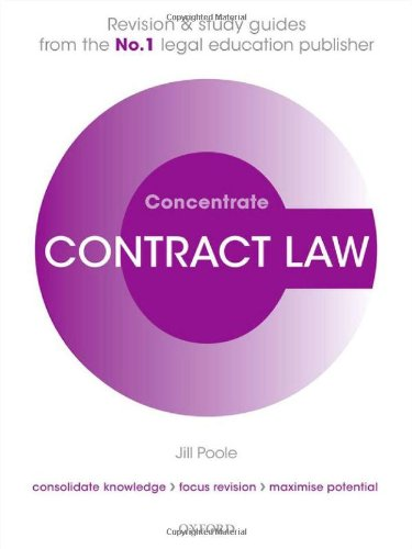 Contract Law Concentrate: Law Revision and Study Guide by Jill Poole (Professor of Commercial Law, University of the West of England)