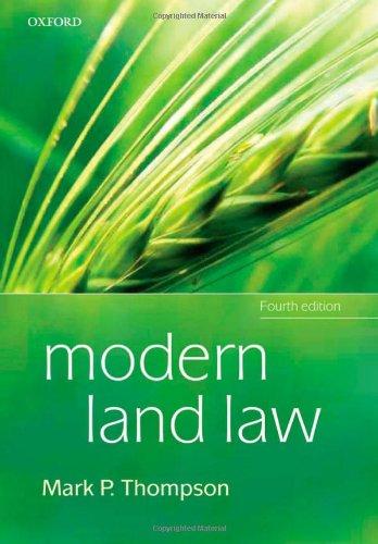 Modern Land Law By Mark P. Thompson