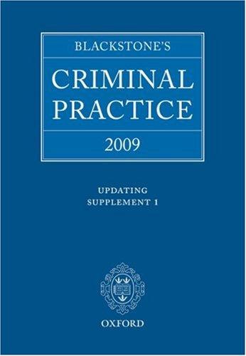 Blackstone's Criminal Practice 2009 - Updating Supplement 1