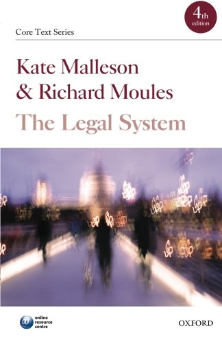 The Legal System By Kate Malleson (Professor of Law, Queen Mary, University of London)