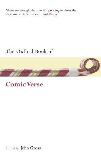 The Oxford Book of Comic Verse By John Gross