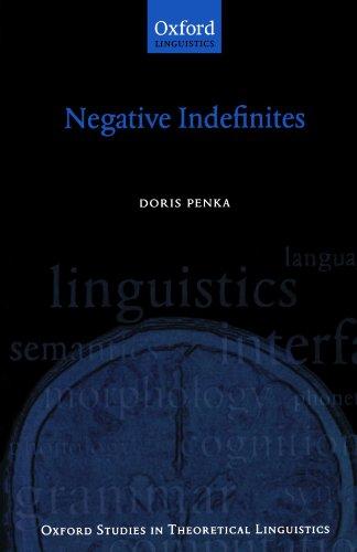 Negative Indefinites By Doris Penka (Department of Linguistics, University of Konstanz)