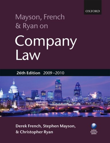Mayson-French-and-Ryan-on-Company-Law-by-Ryan-Christopher-0199567794-The-Cheap