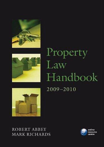 Property Law Handbook By Robert Abbey