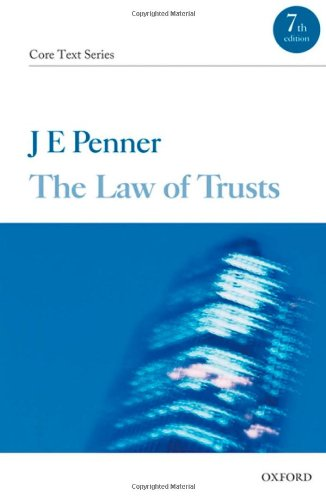 The Law of Trusts By James Penner