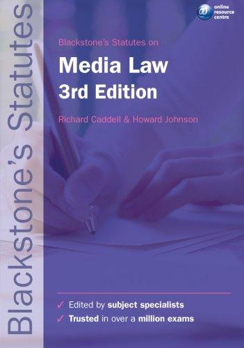 Blackstone's Statutes on Media Law by Richard Caddell