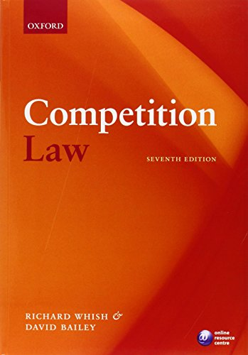 Competition Law By Richard Whish