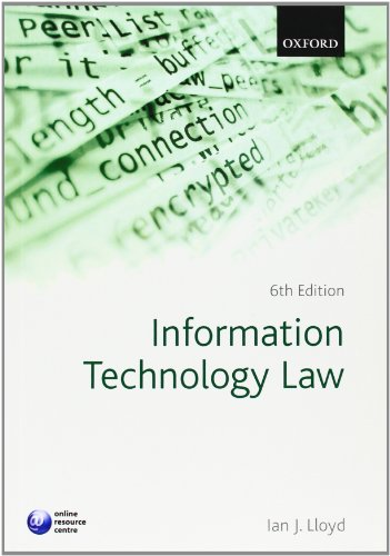 Information Technology Law By Ian J. Lloyd