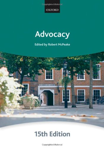 Advocacy (Bar Manuals) By The City Law School