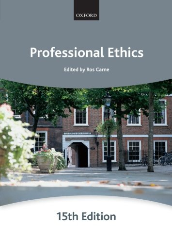 Professional Ethics by Ros Carne