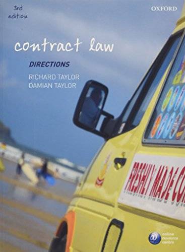 Contract Law Directions By Professor Richard Taylor