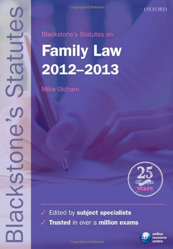 Blackstone's Statutes on Family Law By Edited by Dr. Mika Oldham