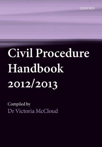 Civil Procedure Handbook 2012/2013 By Victoria Mccloud