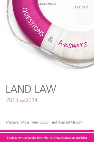 Questions & Answers Land Law 2013-2014: Law Revision and Study Guide (Law Questions & Answers) By Margaret Wilkie