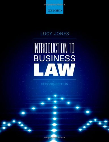 Introduction to Business Law by Lucy Jones