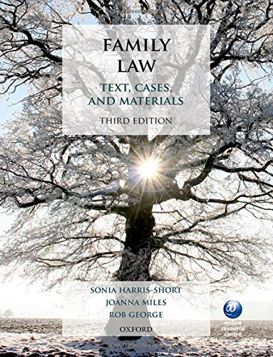 Family Law: Text, Cases, and Materials by Sonia Harris-Short (Honorary Professor of Law, University of Birmingham)