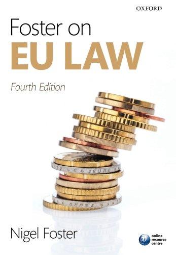 Foster on Eu Law By Nigel Foster