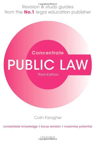 Public Law Concentrate By Colin Faragher
