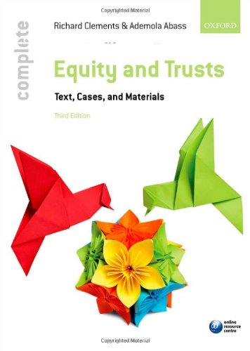 Equity & Trusts By Richard Clements