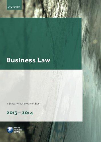 Business Law 2013-2014 By J. Scott Slorach