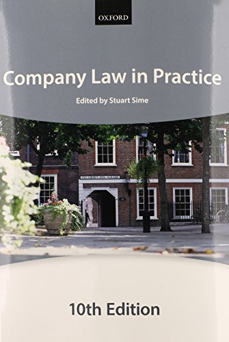Company Law in Practice By The City Law School