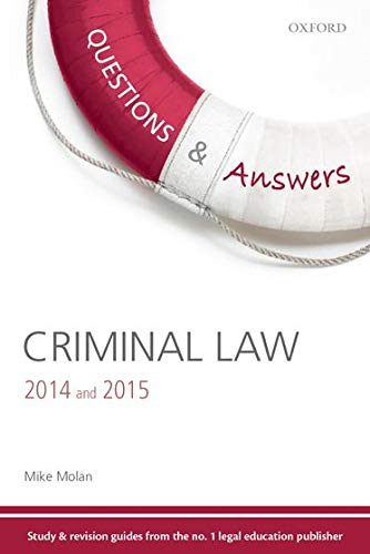 Questions & Answers Criminal Law 2014 and 2015 By Mike Molan