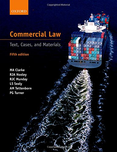 Commercial Law: Text, Cases and Materials By R. J. A. Hooley