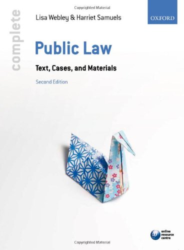 Complete Public Law By Lisa Webley