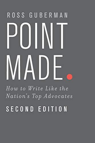 Point Made By Ross Guberman (President, President, Legal Writing Pro)