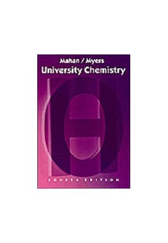 University Chemistry By Bruce H. Mahan