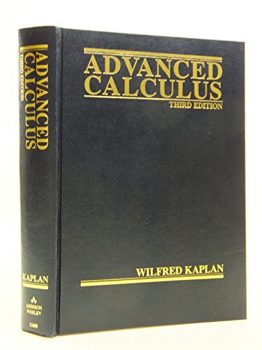 Advanced Calculus By Wilfred Kaplan