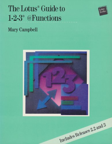 Lotus Guide to 1-2-3 Functions By Campbell