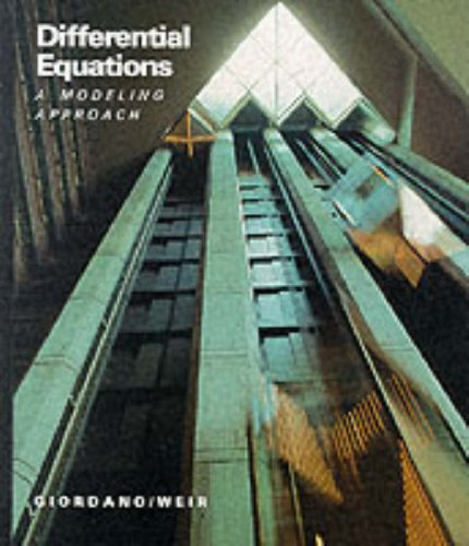 Differential Equations By Frank R. Giordano