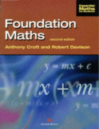 Foundation Maths By Tony Croft