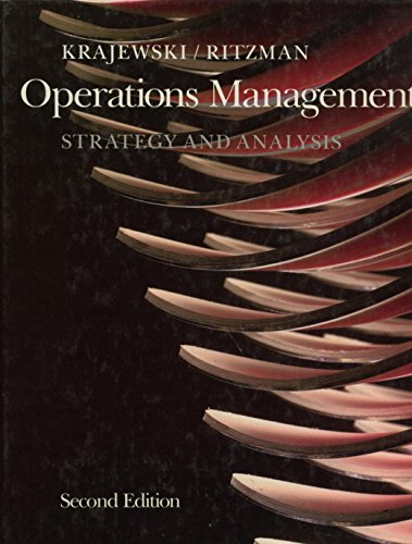 Operations Management By Lee J. Krajewski