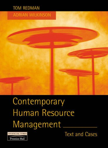 Contemporary Human Resource Management By Tom Redman