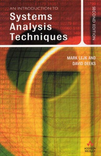 An Introduction to System Analysis Techniques, 2nd Ed. By David Deeks