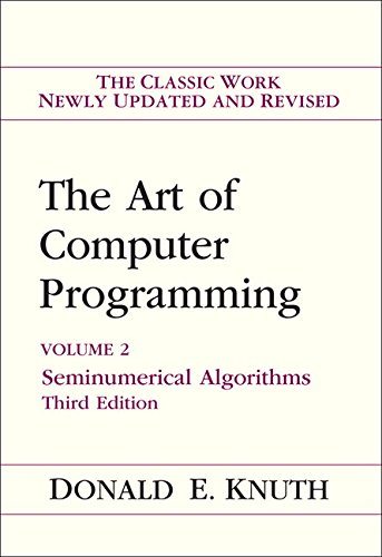 Art of Computer Programming, Volume 2 By Donald E. Knuth