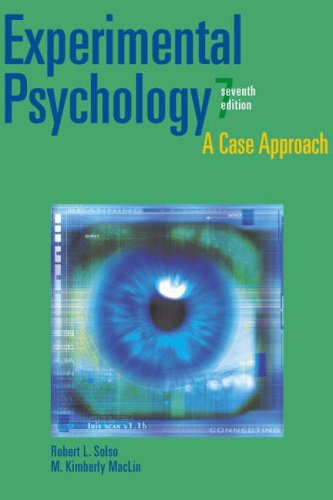 Experimental Psychology By Robert L. Solso