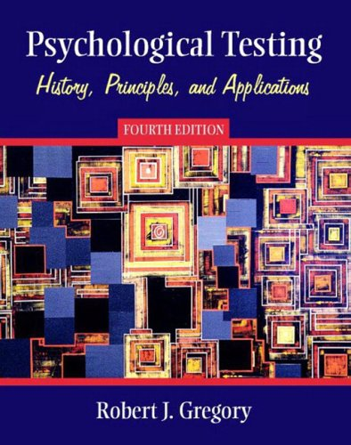 Psychological Testing By Robert J. Gregory
