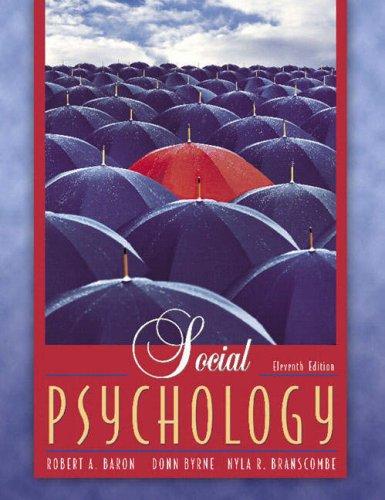 Social Psychology By Robert A. Baron