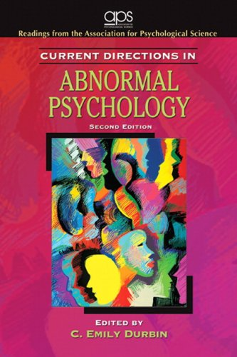 Current Directions in Abnormal Psychology By Association for Psychological Science