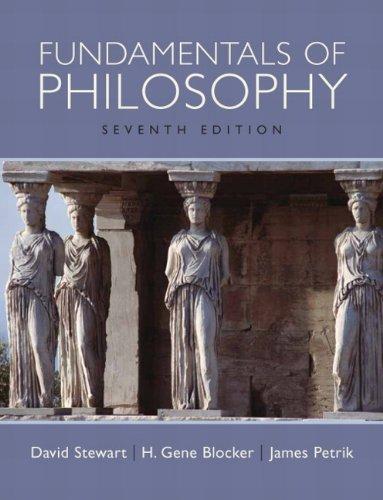 Fundamentals of Philosophy By David Stewart