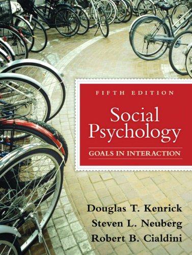 Social Psychology By Douglas Kenrick