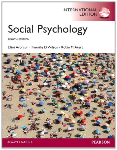 Social Psychology By Elliot Aronson