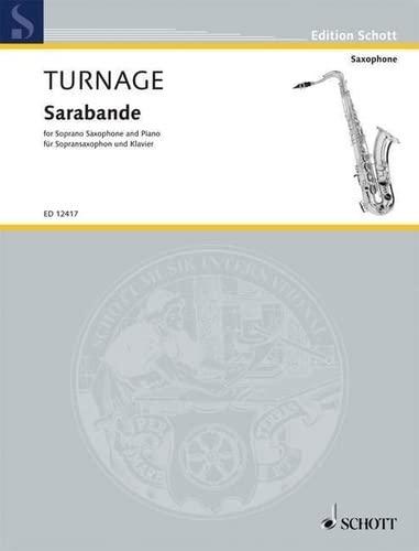 Sarabande -Livre +Partition By Mark-Anthony Turnage